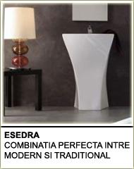 esedra produse baie, compania esedra, esedra combinatia perfecta intre modern si traditional, produse baie italia, amenajare baie ideacasa, produse ideacasa, ceramica italia