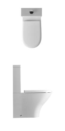 Vas wc monobloc alb Aquatech Kerasan Italia