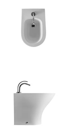 Bideu stativ alb 3720 Aquatech Kerasan Italia