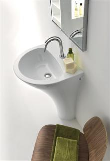 Lavoar freestanding alb 3741 Aquatech Kerasan Italia