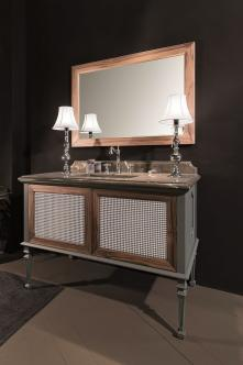 Mobilier baie New Classic Ral opaco e canaletto con tessuto Atelier 1Gaia Mobili Italia