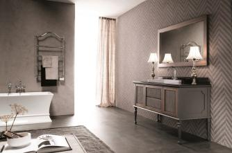 Mobilier baie New Classic Ral opaco e canaletto con tessuto Atelier 2Gaia Mobili Italia