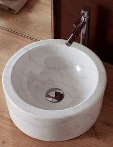 Lavoar pe blat marble white decoration Giove Scarabeo Italia