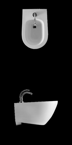 Bidet suspendat alb 3725 Aquatech Kerasan Italia