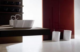 Set baie vas wc stativ +bidet stativ+capac alb Wind Vitruvit Italia