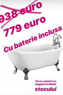 Cada baie clasica acril Ideacasa13+ baterie Revival Daniel Italia