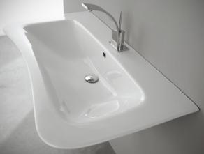 Lavoar suspendat Nero Ceramica Amica 80/100 cm
