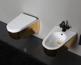 Bideu suspendat luxury gold Shape Vitruvit Italia