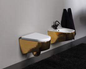 Vas wc suspendat luxury gold Shape Vitruvit Italia
