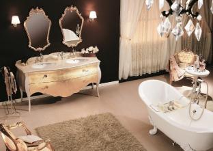 Mobilier baie Luxury Foglia Oro Tristan  Gaia Mobili Italia